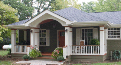 Front porch without roof